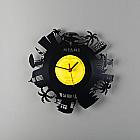 """""""MIAMI"""" VINYL clock"""
